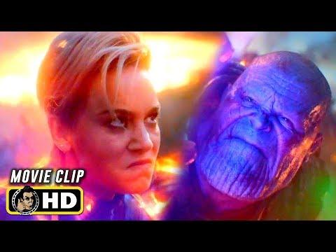 AVENGERS: ENDGAME (2019) Captain Marvel Vs. Thanos Fight Scene [HD]