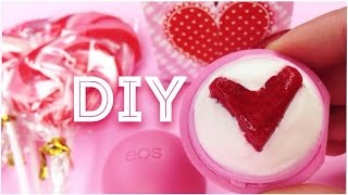 DIY tinted EOS lip balm ♡HEART♡ in the Middle! EASY!! - YouTube
