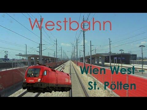 Führerstandsmitfahrt Westbahn Wien Westbahnhof - St. Pölten (NBS 230km/h) Railjet - Cab Ride