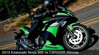 10. 2013 Kawasaki Ninja 300 vs CBR500R Comparison - MotoUSA