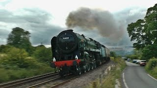 The 25th of July and 8th of August saw 70000 'Britannia' hauling for first two runs of RTC's 'West Somerset Steam Express' trips from Paddington to Minehead ...