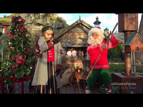 Sigrid and Julenissen the Christmas Gnome | Norway Pavilion 2017 | Epcot [4K]