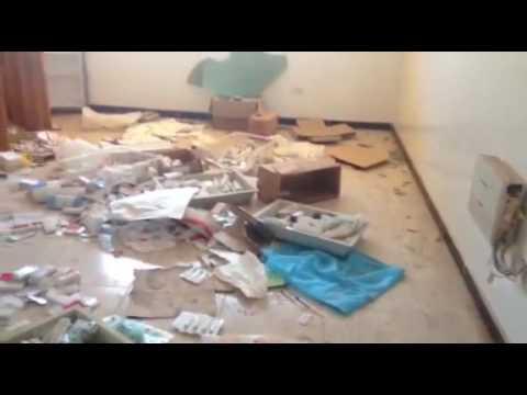 """بالفيديو.. منزل كان يستخدمه """"تنظيم الدولة"""" كمستشفى ميداني"""
