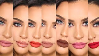 First Impressions +Lip Swatches | KYLIE LIPKIT & GLOSSES by Carli Bybel