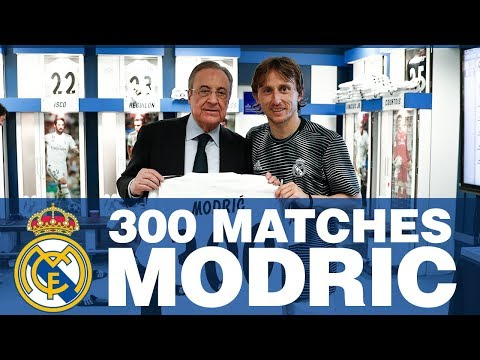 LUKA MODRIC, 300 Real Madrid Matches!