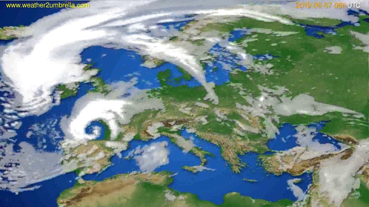 Cloud forecast Europe // modelrun: 00h UTC 2019-06-05