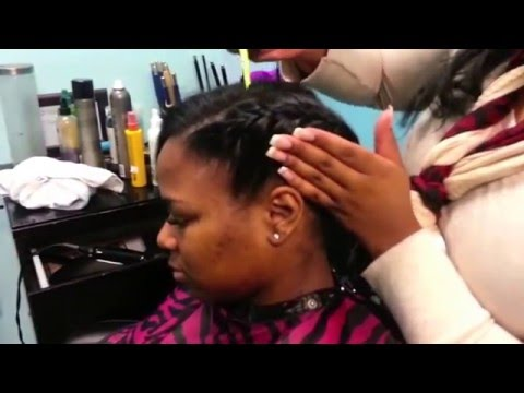 underhand - This video show you ladies a different style to wear with partial also known as 1/2 head sew ins. Visit my social media sites for more styles Instagram : Jaz...