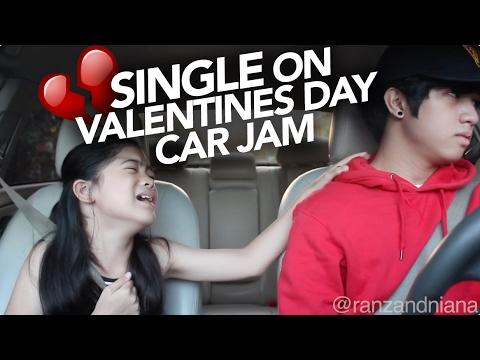 Valentines Day Single Car Jam | Ranz and Niana (видео)