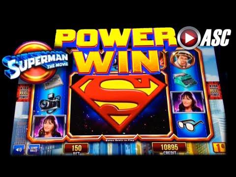 *NEW* SUPERMAN THE MOVIE | Aristocrat - Power Win! Lex Luthor Slot Machine Bonus