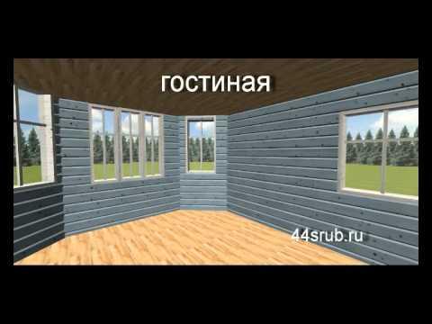 """Дом из бруса, проект """"Ковчег"""""""