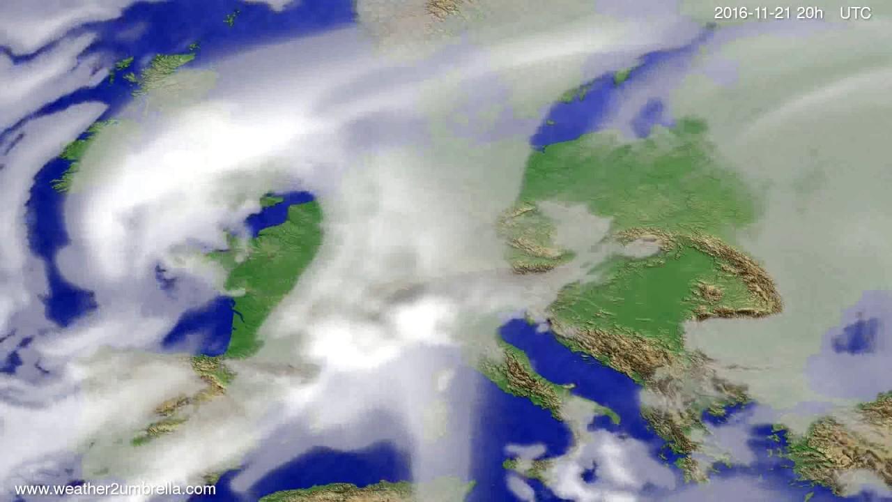 Cloud forecast Europe 2016-11-19