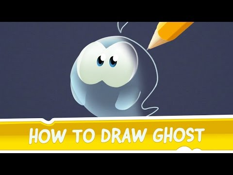 How to Draw Ghost from Cut the Rope: Magic