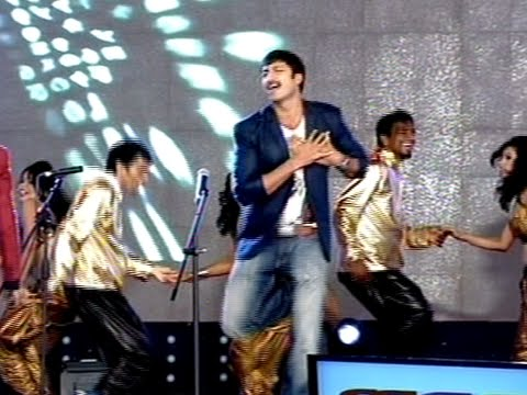 Gopichand Dance On Stage in Loukyam Movie Audio Launch 18 September 2014 07 PM