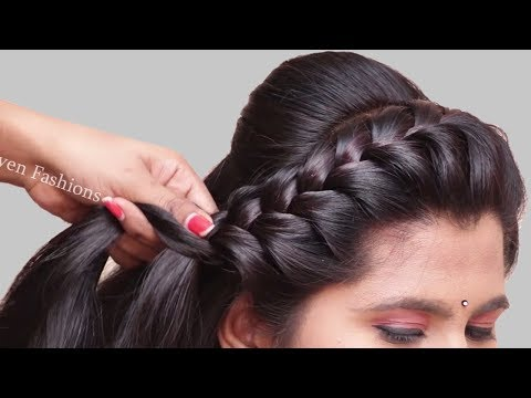 3 Easy Hairstyles for Party, College, Work | hair style girl | Latest hairstyles for Long Hair 2019