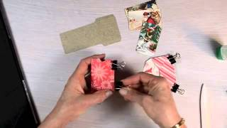 Brenda Walton from Sizzix demonstrates the 658349 Mini Correspondence Inserts & Envelopes Die from her Favorite Things collection for Sizzix. Three assorted ...