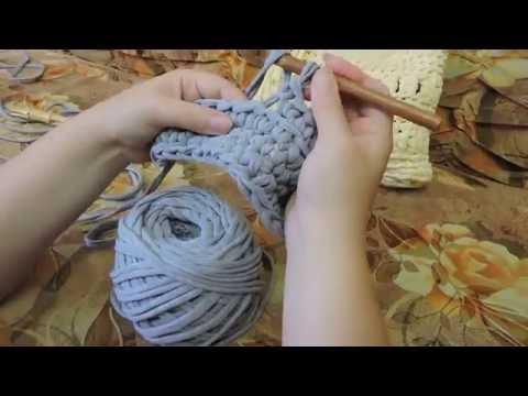 Вязание крючком ленточными нитками