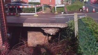 A large sinkhole has appeared below a house in Hemel Hempstead, Hertfordshire.