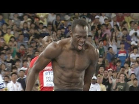 Usain Bolt false starts, disqualified in 100m; Blake wins 2011 Championship