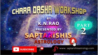 Saptarishis Astrology presents '2 Day Workshop on Chara Dasa' by eminent astrologer and author K.N. Rao. Learn to Predict...