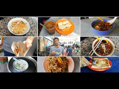 Malaysian Street Food Tour in Georg Town, Malaysia - HUGE Chinese, Indian and Malay Food JOURNEY