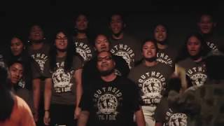 Southside Rise, the production bringing together high school students from ten different schools in South Auckland. In the village of Moana's ancestors, leaders are made. They are warriors, armed with creativity and bravery; alofa and reciprocity. This is one of the many songs in the production, their rendition of the song 'Lean on Me'.