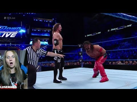 WWE Smackdown 5/15/18 Shinsuke vs AJ Styles