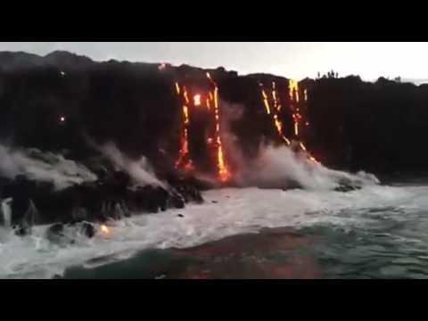 Magma en el oceano (видео)