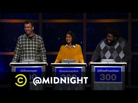Matt Braunger, Aparna Nancherla and, Ron Funches - #HashtagWars - #FrozenBands - @midnight