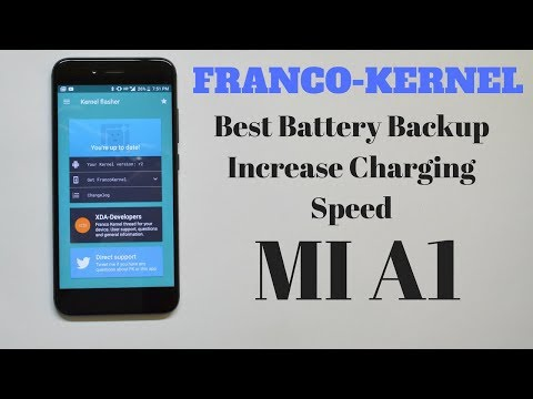 Franco Kernel Amazing Battery Life | Faster charging for Mi A1!!!