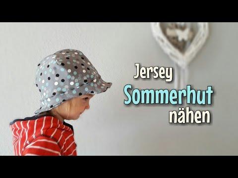 Jersey Sommerhut - Nähanleitung - Für Anfänger - Nähtinchen