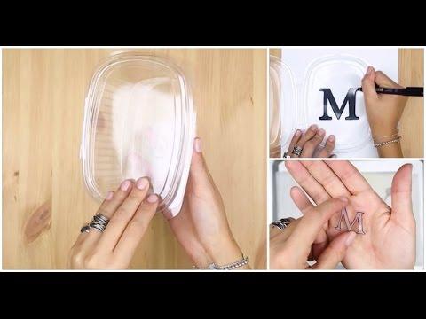 Come realizzare dei ciondoli con i contenitori di plastica