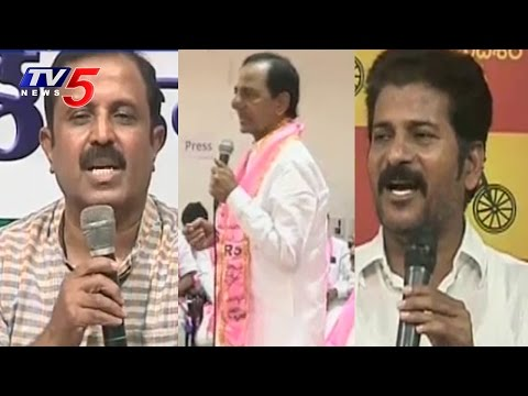 Congress and TDP Leaders Strong Comments on CM KCR Over Plenary Meet
