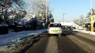 Southport United Kingdom  city photo : Heavy snow Churchtown Southport UK 2010.