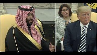 Video Saudi Crown Prince Mohammad bin Salman SHOCKS President Donald Trump at White House Meeting MP3, 3GP, MP4, WEBM, AVI, FLV Oktober 2018