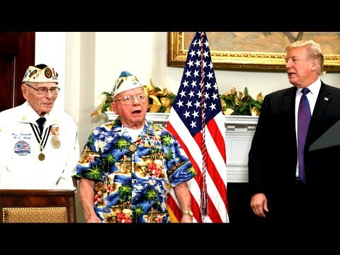 AMAZING: Veteran Sings 'Remember Pearl Harbor' During President Trump's Proclamation Ceremony