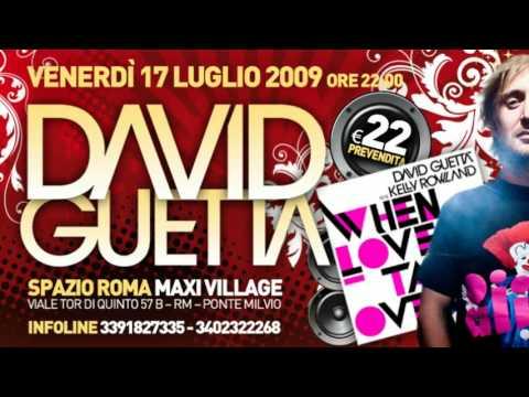 DAVID GUETTA 17 LUGLIO 09 @ SPAZIO ROMA