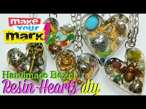 How to Create Handmade Bezel Resin Hearts