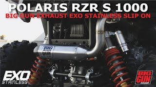 10. Polaris RZR S 1000 Big Gun Exhaust EXO Stainless Slip On