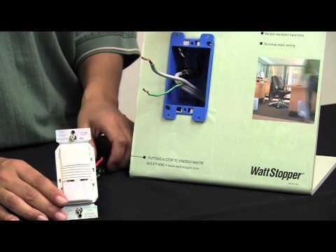 Wattstopper: How to: Installing a PW-100 Passive Infrared Wall Switch Sensor