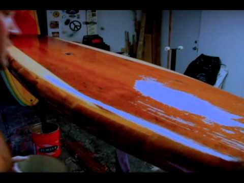 build your own stand up paddleboard glassing sessions finally.wmv