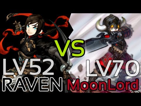 Dragon Nest: Raven vs Moonlord w/ Level 70 Gameplay! (3rd Class of Assassin and Warrior)