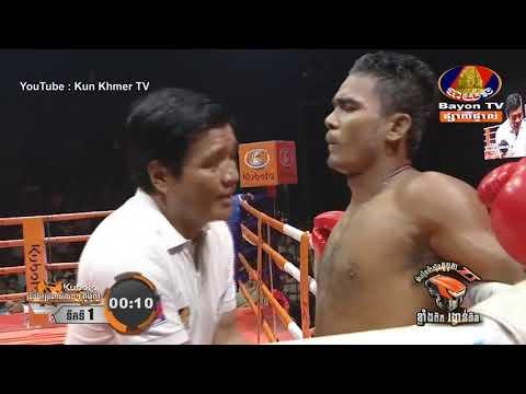Kun Khmer, ស៊ីបម៉ឺន Vs ស៊ីបម៉ឺន (ថៃ), Meun Sophea Vs Simuen (Thai), Bayon boxing 31/5/2019