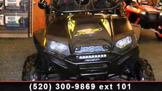 2. 2013 Polaris RZR XP 900 Stealth Black and Evasive Green LE