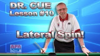 APA Dr. Cue Instruction - Dr. Cue Pool Lesson 10: Cue Ball Control...Lateral (side) Spin