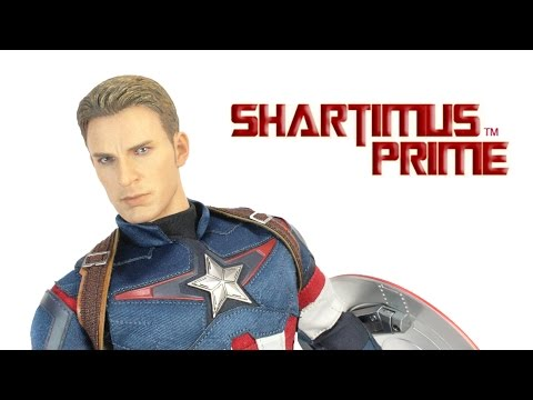 Hot Toys Captain America Avengers Age of Ultron MMS281 Movie Masterpiece 1:6 Scale Action Figure Rev