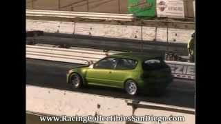 Honda Civic Drag Racing Barona Drag Strip 1-5-2013