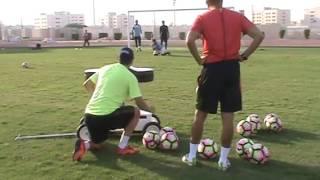 treinamento em conjunto com os professores itamar rodrigues e alexandre vargas realizado com os goleiros da equipe sub 19 do ettifaq club.