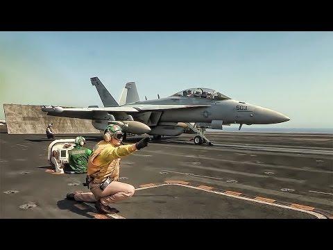 Flight operations aboard the USS...
