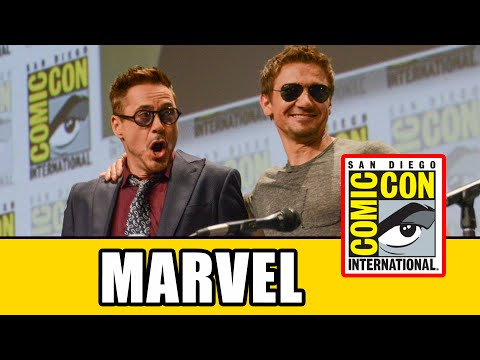 man - Full double Marvel panel at SDCC 2014 wirh the cast and filmmakers for Ant-Man and Avengers: Age of Ultron. For Avengers: Age of Ultron Robert Downey Jr., Jeremy Renner, Mark Ruffalo, Chris...