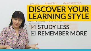 Did you know that everyone learns differently? In fact, there are three main learning styles among students: visual, auditory, and kinesthetic. You may be more comfortable with one or a combination of these learning styles. Do you know what kind of learner you are? In this lesson, you will find out how to learn anything more quickly, easily, and effectively, including English! Take charge of your success in your personal, academic, and professional life. This is an essential lesson for students, parents, teachers, and adults in all fields. For more free information about learning styles and how to learn more effectively, go to https://www.studyingstyle.com .Take the quiz: http://www.engvid.com/discover-your-unique-learning-style-visual-auditory-kinesthetic/TRANSCRIPTHi. My name's Rebecca, and in this lesson I'm going to explain to you about something called learning styles. This lesson is good not only for English learners for whom I usually make lessons, but also for anyone in general who's trying to learn more effectively. Now, the thing to remember is that not everybody learns in the same way. I have a particular way of learning, you have a way of learning, so does your brother, your friend, your cousin. Okay? So what's important when you're trying to learn is to discover: What is your learning style? And that's what this lesson will show. All right? Let's go to the board.There are three main learning styles. About 60% of the population are visual learners, about 30% of the population are auditory learners, and about 10% are kinesthetic learners. Okay? And as I read through the characteristics, you'll probably be able to identify who you are and what kind of way you learn best because you will recognize what you enjoy doing, and what you enjoy doing tells you what kind of learner you are and what kind of a learning style you have. Okay?So, the visual learner, of course, enjoys learning by seeing; auditory by hearing; and the kinesthetic by actually doing somethin